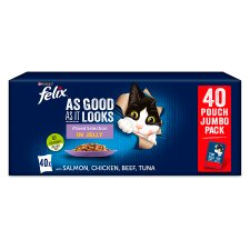 image 1 of Felix As Good As It Looks Cat Food Mixed Selection 40X100g