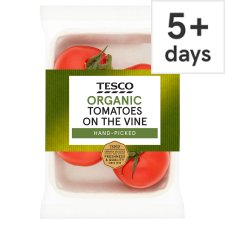 Tesco Organic Large On The Vine Tomatoes 400G