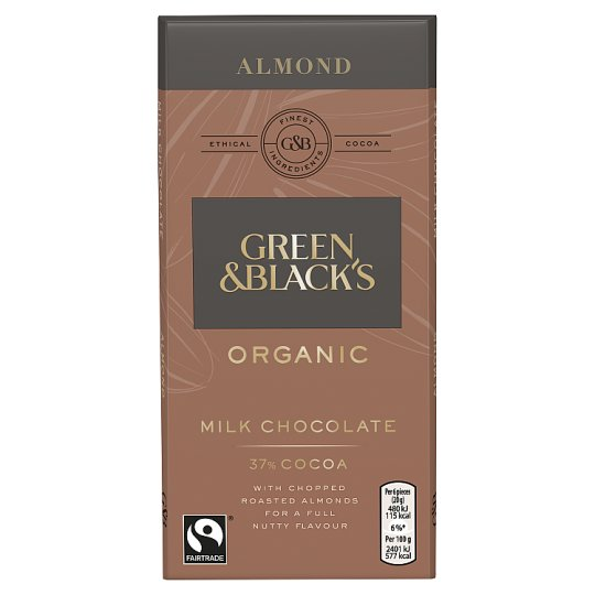 Green And Black's Organic Almond Milk Chocolate Bar 100G