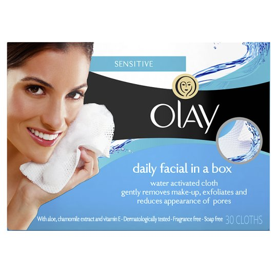 Olay Essential Dry Face Cleansing Wipes Sensitive 30