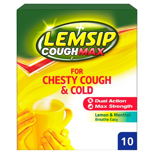 Lemsipmax Chesty Cough And Cold Hot Drink 10S