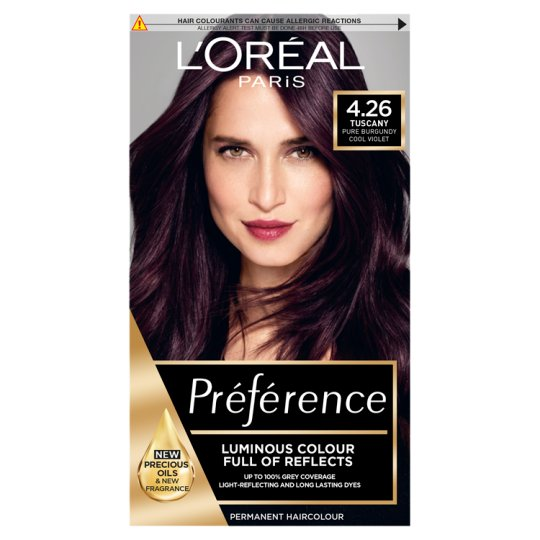 L Oreal Paris Preference Pure Burgundy 4 26 Tesco Groceries