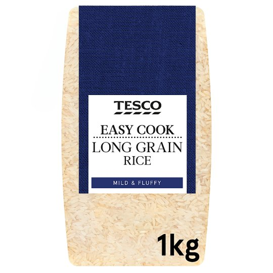 Tesco Easy Cook Long Grain Rice 1Kg