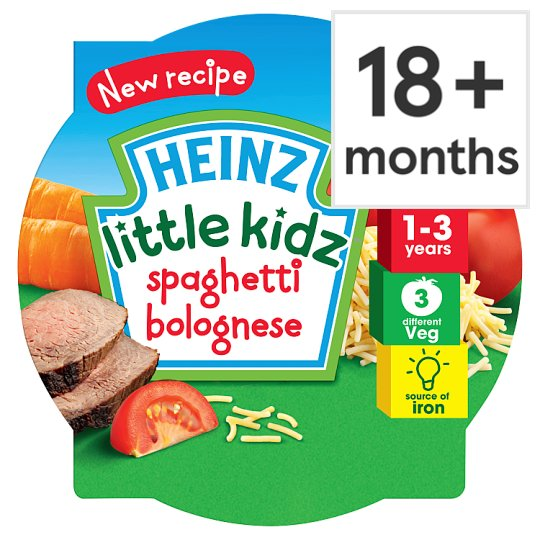Heinz Little Kids Tray Meals Pasta Bolognese 230G