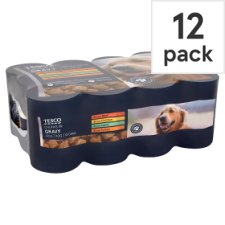 Tesco Cuts In Gravy Selection Tinned Dog Food 12 X400g