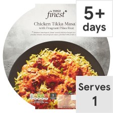Tesco Finest Chicken Tikka Masala And Rice 450G