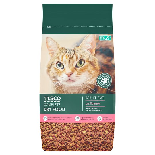 Tesco Salmon And Vegetables Dry Cat Food 3Kg