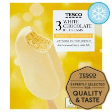 Tesco Chocolate White Sticks 3X110ml