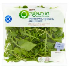 Tesco Organic Watercress Spinach Rocket