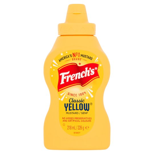 French's America Classic Yellow Mustard 226G Squeezy