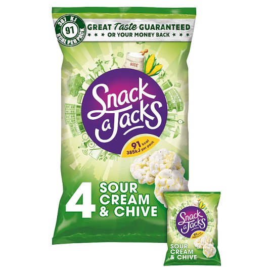 Snack A Jacks Sour Cream And Chive 4 Pack 88G