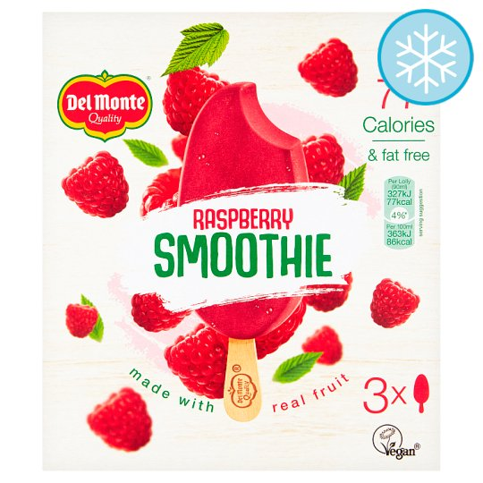 Del Monte Raspberry Iced Smoothie 3 X90ml