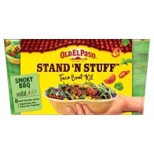 Old El Paso Smokey Bbq Stand 'N' Stuff Soft Taco Kit 350G