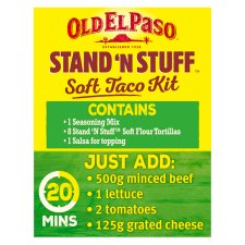 image 2 of Old El Paso Smokey Bbq Stand 'N' Stuff Soft Taco Kit 350G