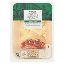 Tesco Tomato And Pancetta Ravioli 300G