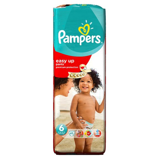 Pampers Easy Ups Size 6 Large Pack 42 Nappies