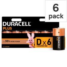 Duracell Plus D 6 Pack