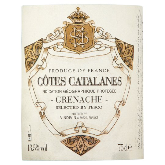 Tesco Finest Cotes Catalanes Grenache 75Cl