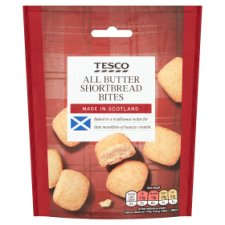 Tesco Scottish Shortbread Bites 125G
