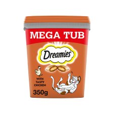 Dreamies Bulk Chicken Cat Treats Tub 350G