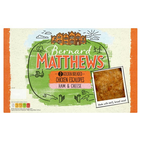 Bernard Matthews Ham And Cheese Chicken Escalopes 285G