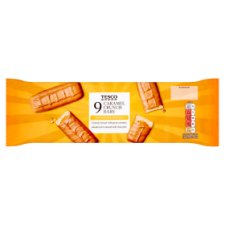 Tesco Caramel Crunch Biscuit Bar 9 Pack 189G