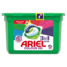 Ariel Colour 3In1 Pods Washing Capsules 19 Washes