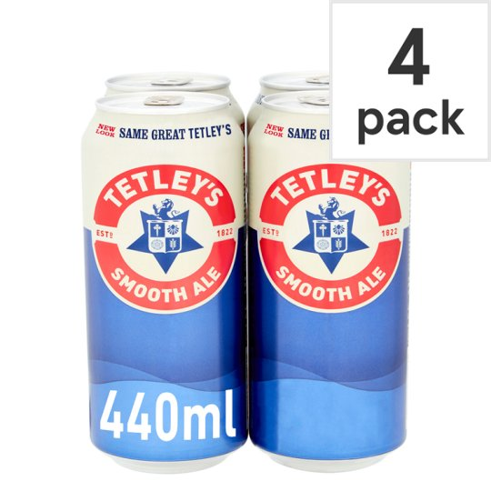 Tetleys Smoothflow 4X440ml Cans