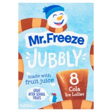 Mr Freeze Jubbly Ice Lollies Cola 8X62ml