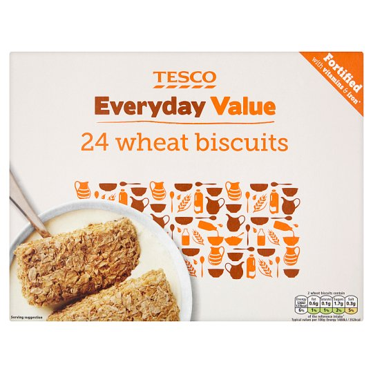 Tesco Everyday Wheat Biscuits Cereal 24 Pack