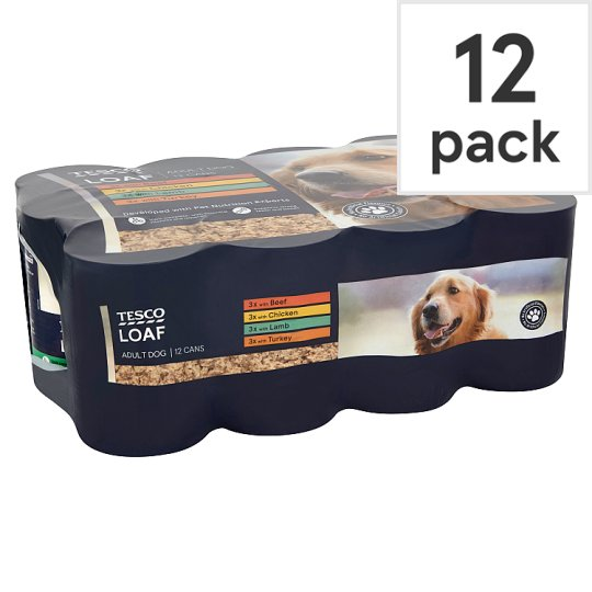 Tesco Loaf Tinned Dog Food 12 X395g