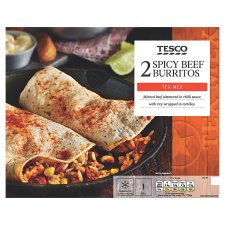 Tesco Tex Mex Spicy Beef Burrito 430G