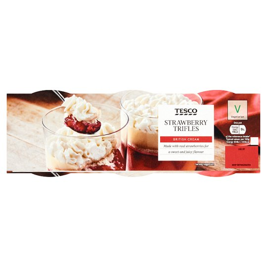 Tesco Strawberry Trifle Dessert 3 X145g