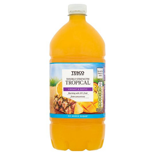 Tesco Double Strength Tropical Squash No Added Sugar 1.5L