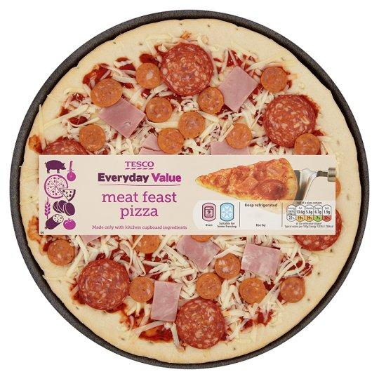 """Tesco Everyday Value 10"""" Meat Feast Pizza 330G"""