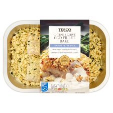 Tesco Cheese And Chive Cod Fillet Bake 390G
