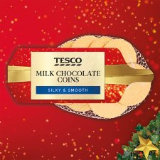 Tesco Milk Chocolate Coins 70G