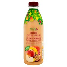 Tesco 100% Squeezed Apple Peach Passion Fruit And Mango Juice 1 Litre