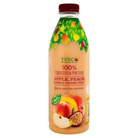 Tesco Apple Mango Passion Fruit And Peach Juice Not From Concentrate 1L