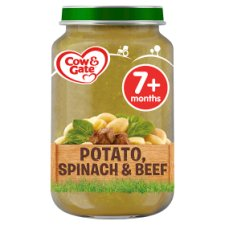 Cow & Gate Stage 2 Potato Spinach And Beef 200G Jar