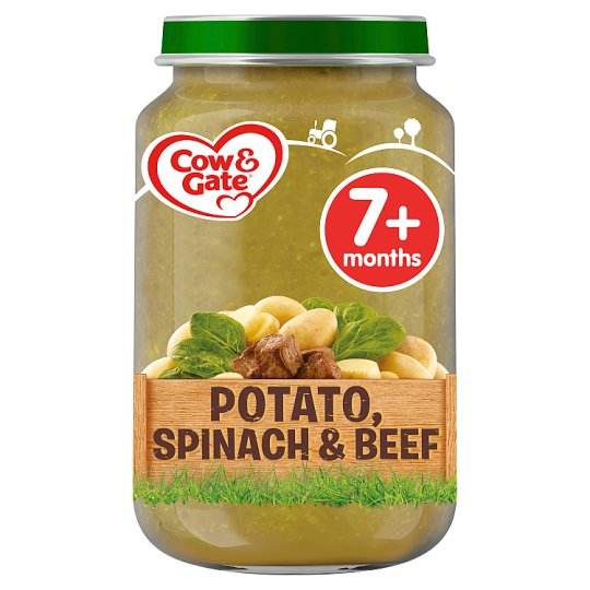 image 1 of Cow & Gate Stage 2 Potato Spinach And Beef 200G Jar