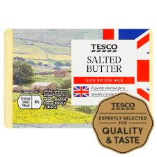 Tesco British Salted Block Butter 250G