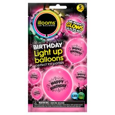 Iloom Balloon Happy Birthday Pink 5 Pack