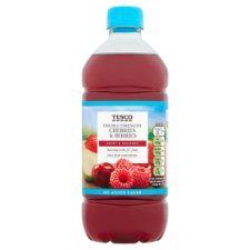 Tesco Double Concentrate Cherries Berries No Added Sugar Squash 750Ml