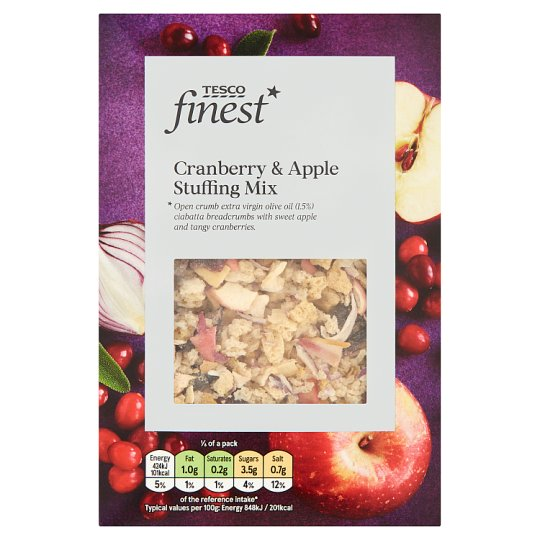 Tesco Finest Apple And Cranberry Stuffing Mix 130G