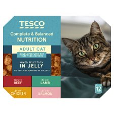Tesco Cuts In Jelly Selection Tinned Cat Food 12 X400g