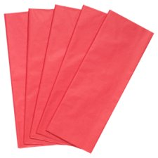 Tesco Red Tissue 5 Sheets