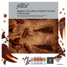 Tesco Finest Chocolate And Salted Caramel Cheesecake 540G