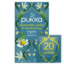 Pukka Organic Vanilla And Manuka 20 Tea Bags 32G