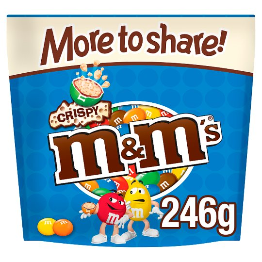 image 1 of M&Ms Crispy Large Pouch 213G